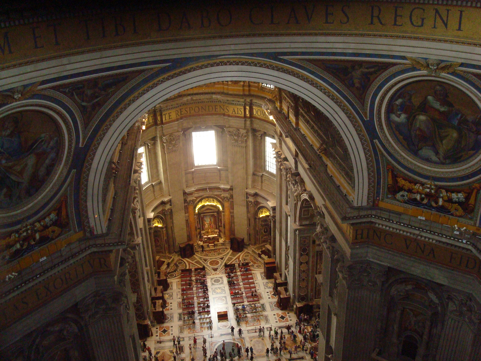 View of st peters basilica from viewing platform dome