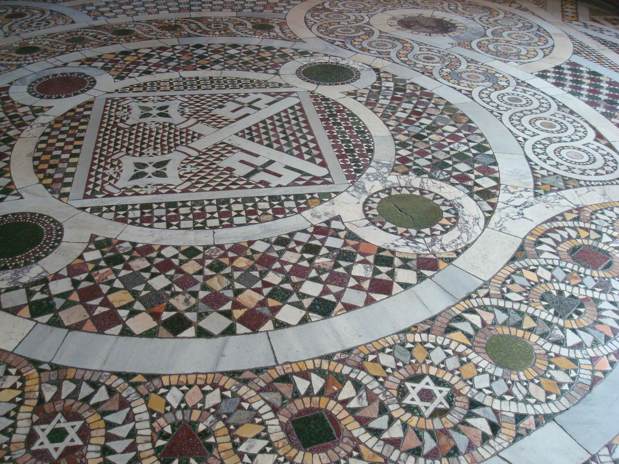 mosaic tile floor vatican museum
