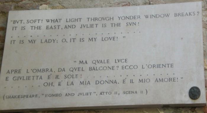 shakespeare romeo juliet verona