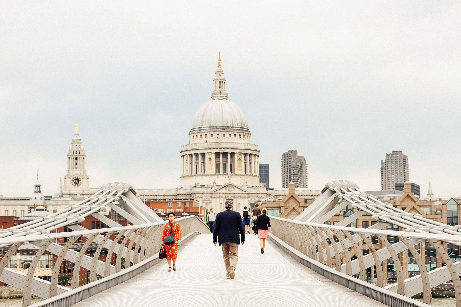 Top sights in Central London - St Pauls Cathedral & Millenium Bridge